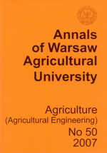 Annals of Warsaw Agricultural University. Agriculture 50